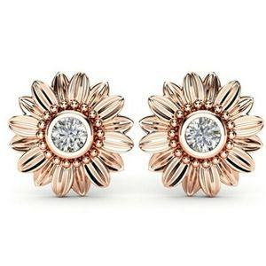 ***925 silver Rose Gold New  Earrings